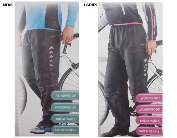 18704 - Waterproof Cycling Overtrousers for Mens and Ladies China