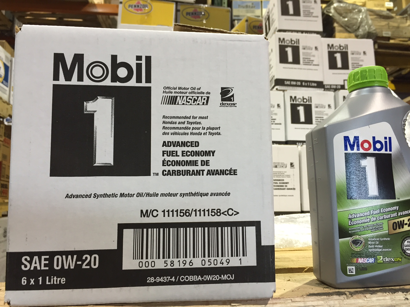 18775 - Mobil 1 0w20 0w40 5w50 (1L bottle) USA