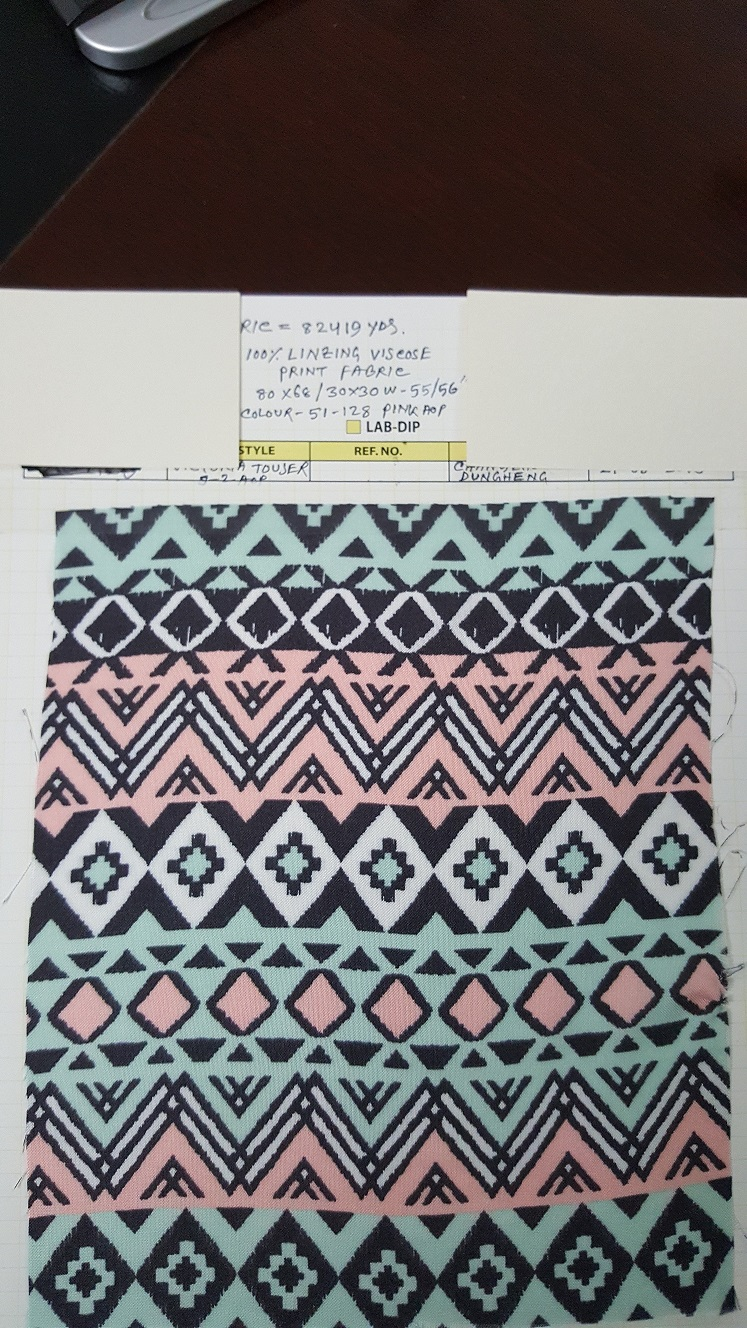 20014 - Fabric sale 100% Viscose print fabric Bangladesh