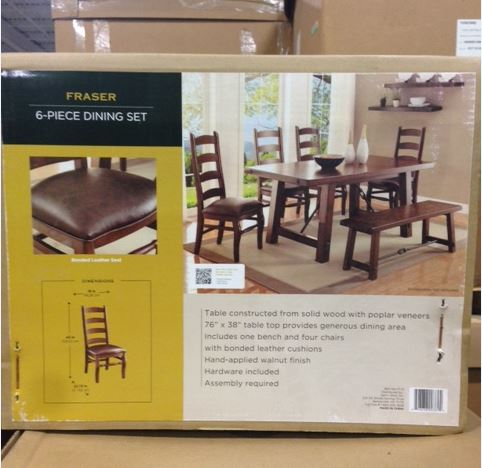 20665   Frazier Six Piece Dining Set USA