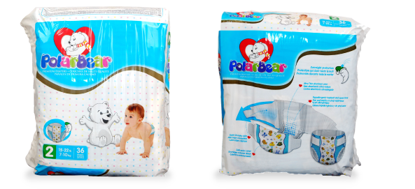 20717 - POLAR BEAR NAPPIES (Diapers) USA