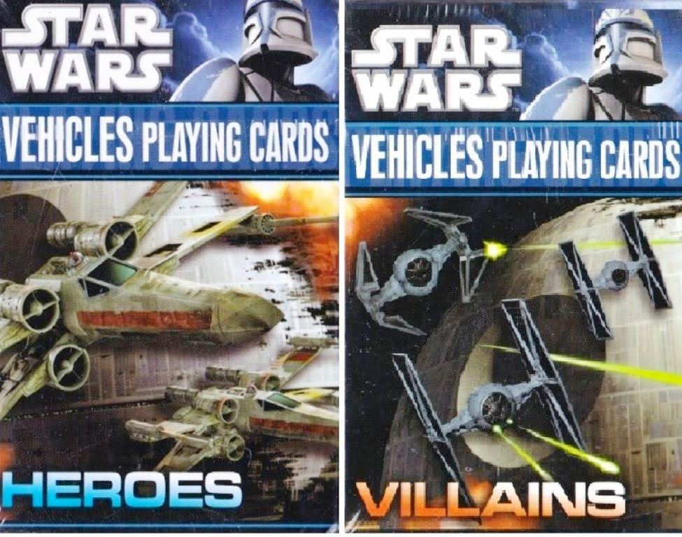 22342 - Star Wars Vehicles Heroes And Villains Playing Cards By Cartamundi USA