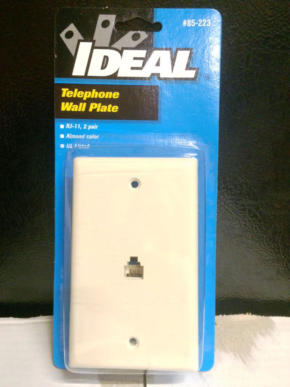 22578 - Telephone/Cable Wall Plates USA