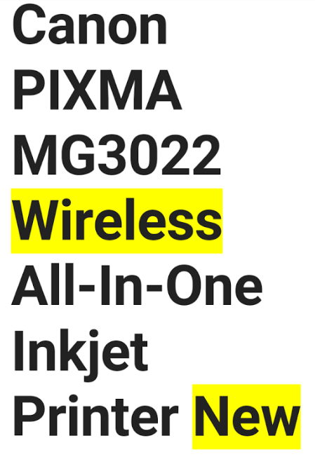 22612 - Canon all in one wireless USA