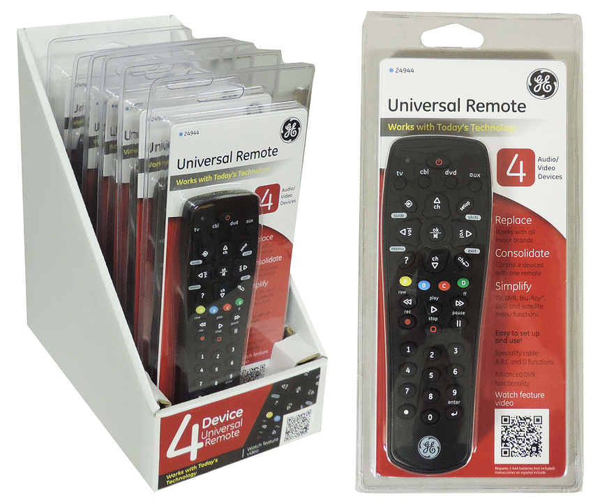 22616 - Universal Remote (4 Device) in Counter Display USA
