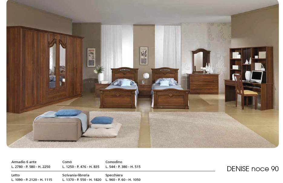 22904 - Stock bedroom Made in Italy Europe