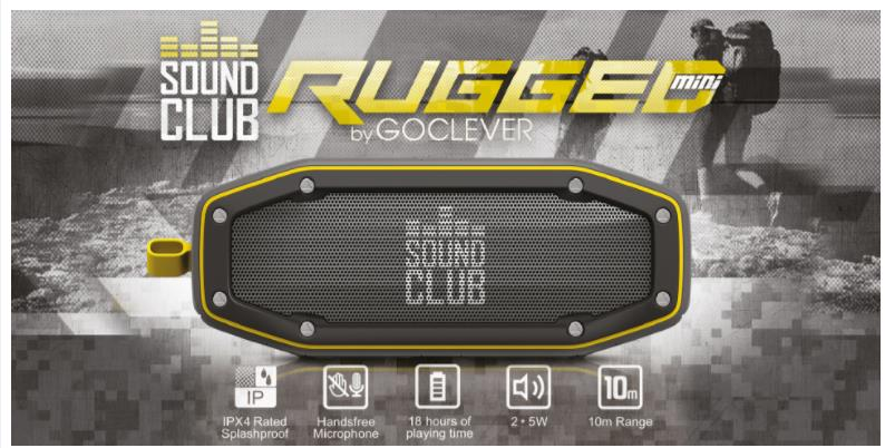 23533 - Sound Club Rugged BT loudspeaker with IPX protection Europe