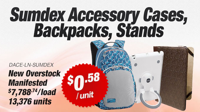 23607 - Sumdex Branded Backpacks, Acessory Cases & Stands USA