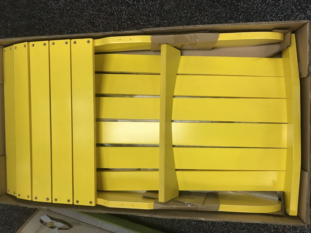 "23690 - ""Yellow Pine wood"" fan-back Adirondack Chairs USA"