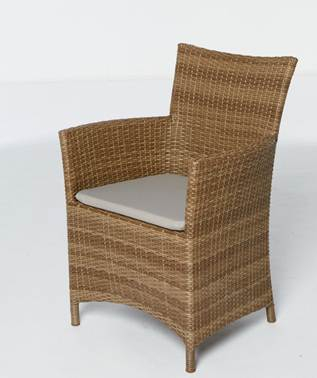 23701 - Rattan chair with cushion Europe