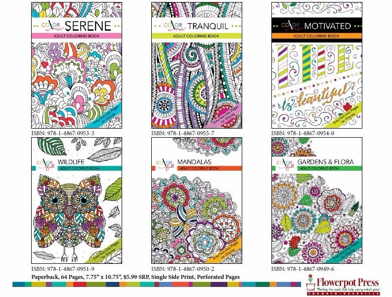 Adult Doodle Art Color Books By Flowerpot USAStock Offers