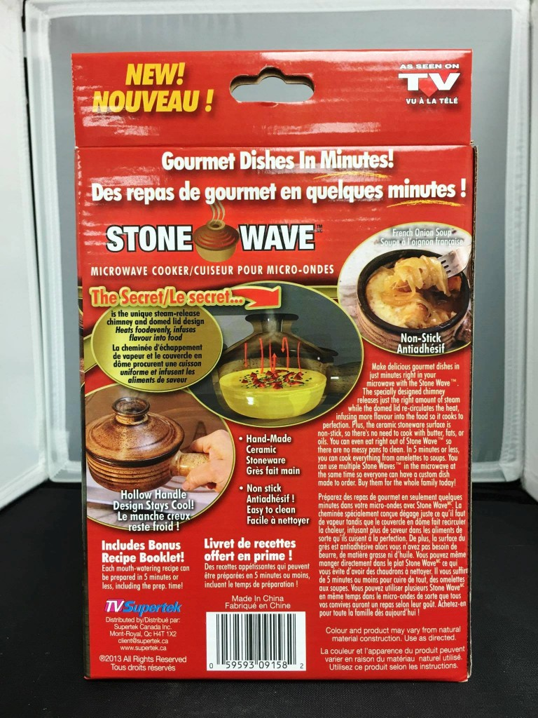 25030 - AS SEEN ON TV STONE WAVE MICROWAVE COOKER Canada
