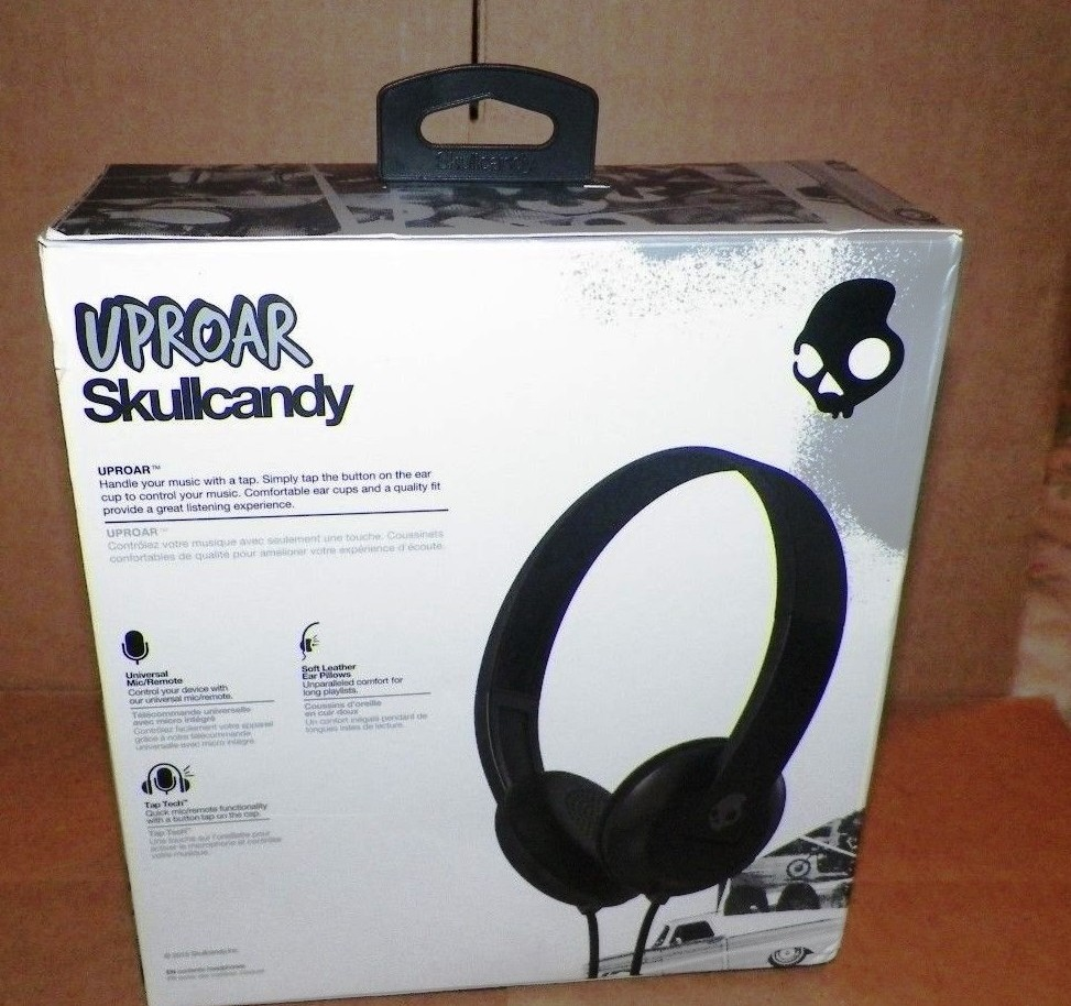 26336 - Skullcandy Uproar On-Ear Headphones With TapTech – Black USA