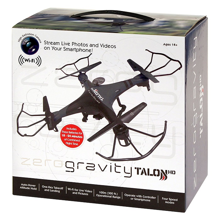 26453 - New Case Packed Zero Gravity Talon Drone's with HD Camera USA