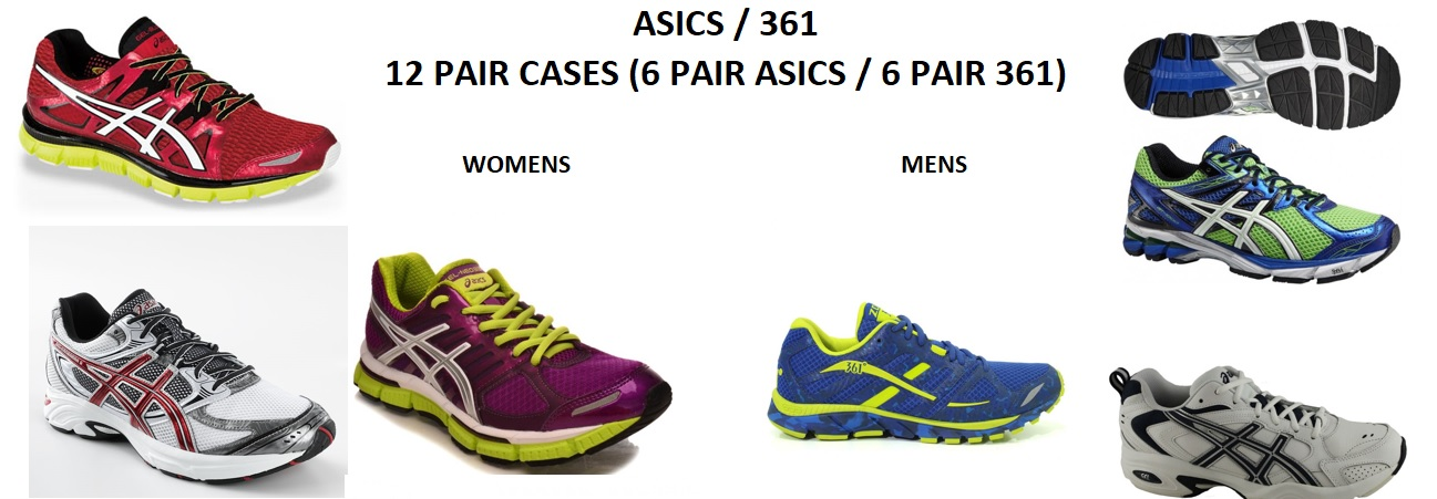 26456 - ASICS AND 361 MIXED FOOTWEAR LOT SHOES USA