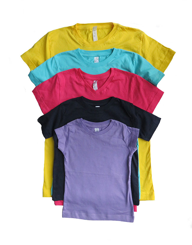 27360 - LAT and RABBIT SKINS Assorted Boys and Girls Basic T Shirts India