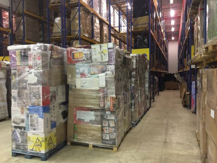 A container 40 feet with 35 XXL mix pallets with returned goods