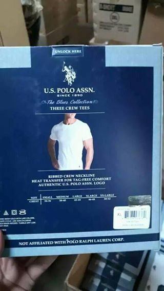 27800 - Sale offer for 42,907 pcs Mens White color T-shirt stock. US POLO ASSN BANGLADESH