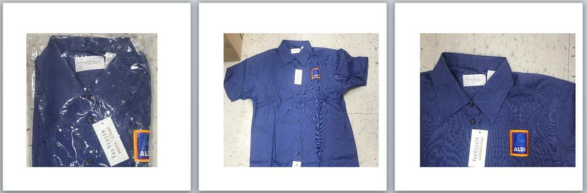 29567 - Van Heusen Ladies Short Sleeve Shirts Aldi Logo USA