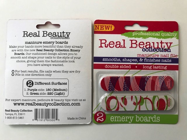 30331 - Real Beauty 2-Pack Emery Boards USA