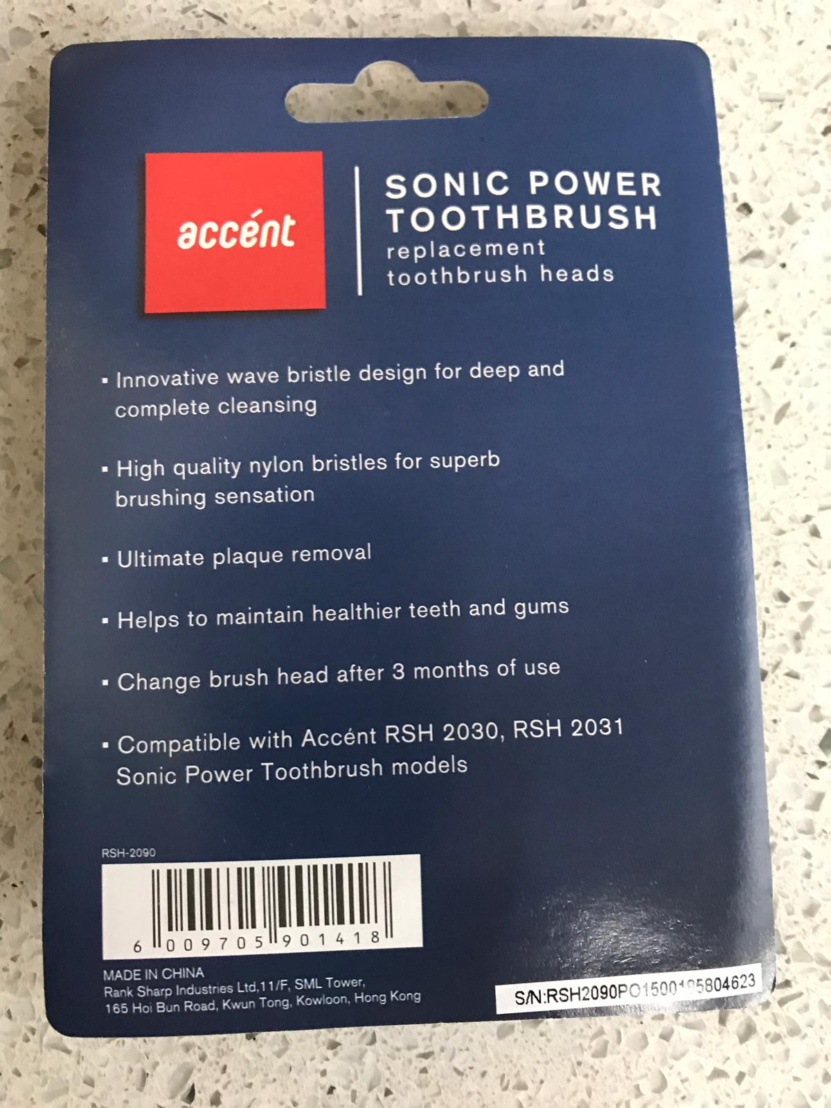 31102 - Sonic power toothbrush heads. 3 pack Europe