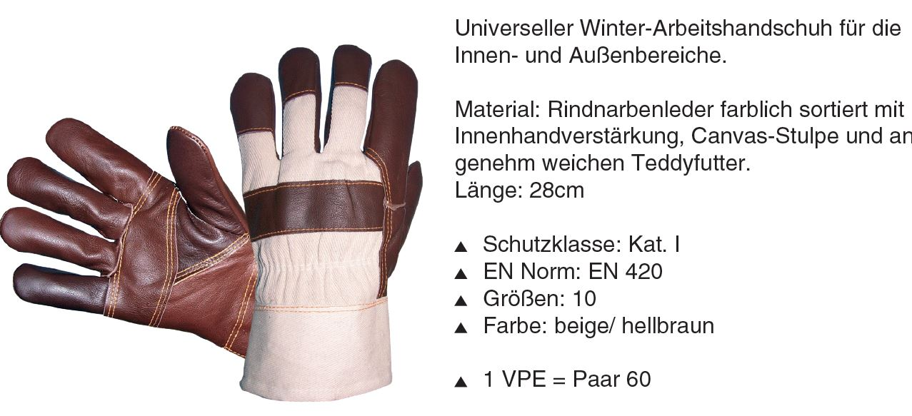31277 - Universal winter work glove for the Indoor and outdoor areas Europe