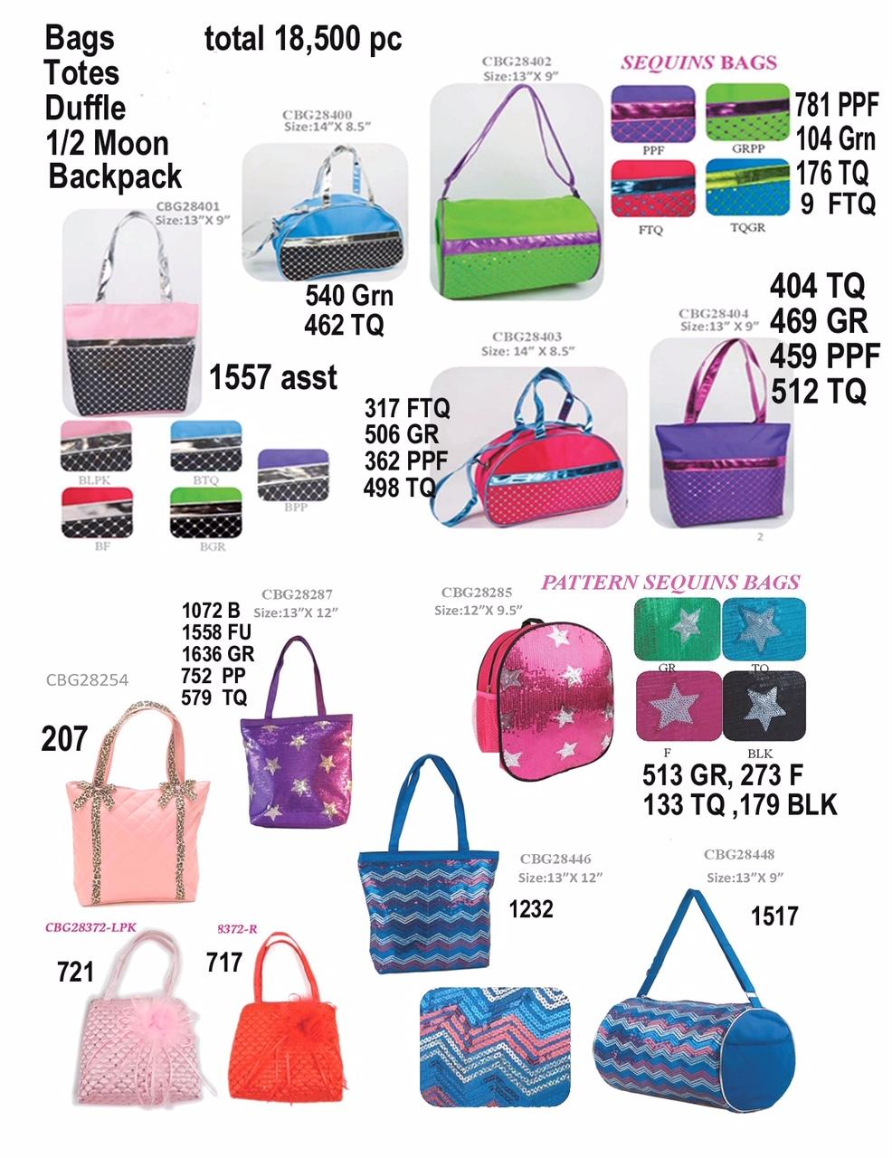 32115 - Assorted Ladies Duffle Bags / Purses & Tube Tops USA
