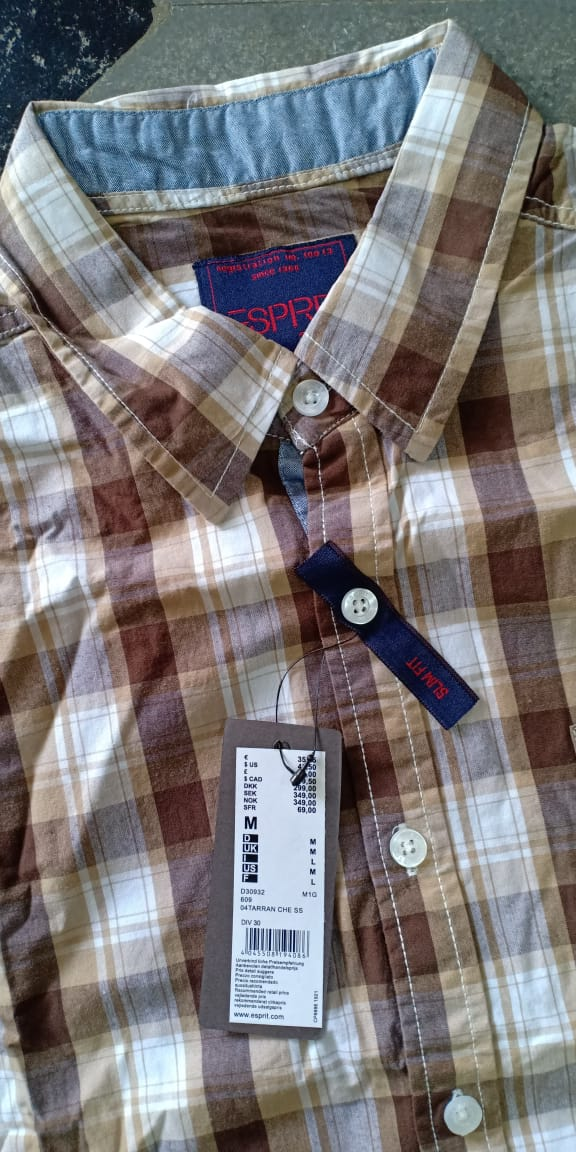32738 - ESPRIT Men's Checked Shirts India