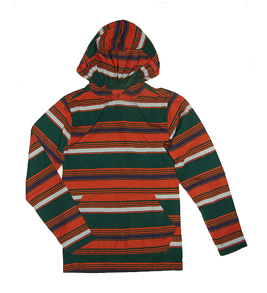 32744 - CITY OF ANGELS Junior Boys Polyester Striped Hooded T Shirts India
