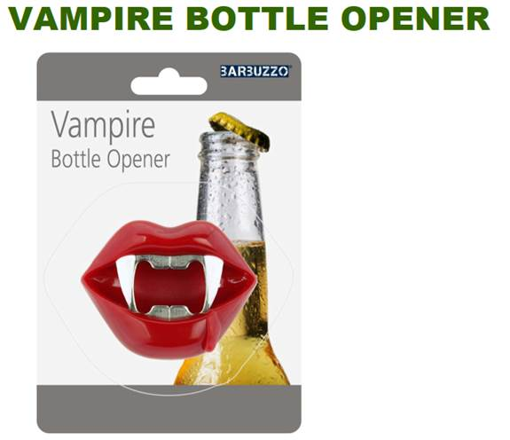 33620 - Vampire Novelty Bottle Opener Closeout Op-Perfect Timing for Halloween USA