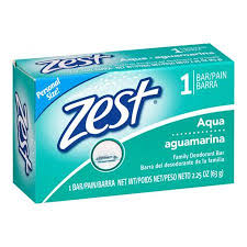 33554 - ZEST BAR AQUA. 2.25 OZ. SINGLE USA