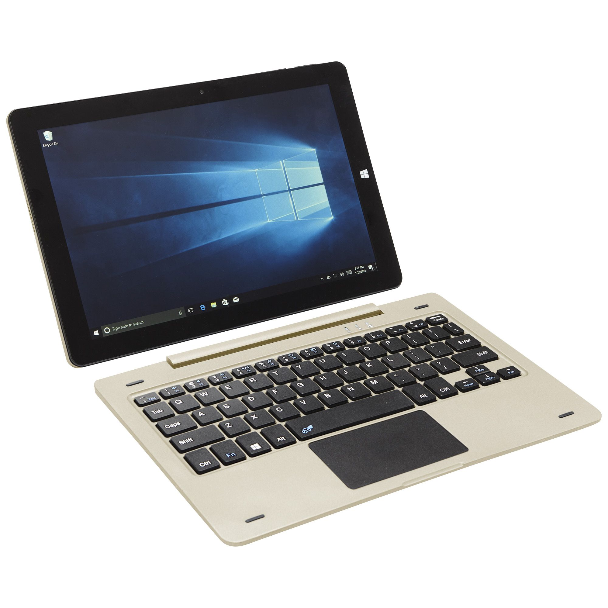 "34876 - New 10.1"" HD 4GB Windows 10 2-in-1 Laptop/Tablet Computer with Detachable Keyboard USA"