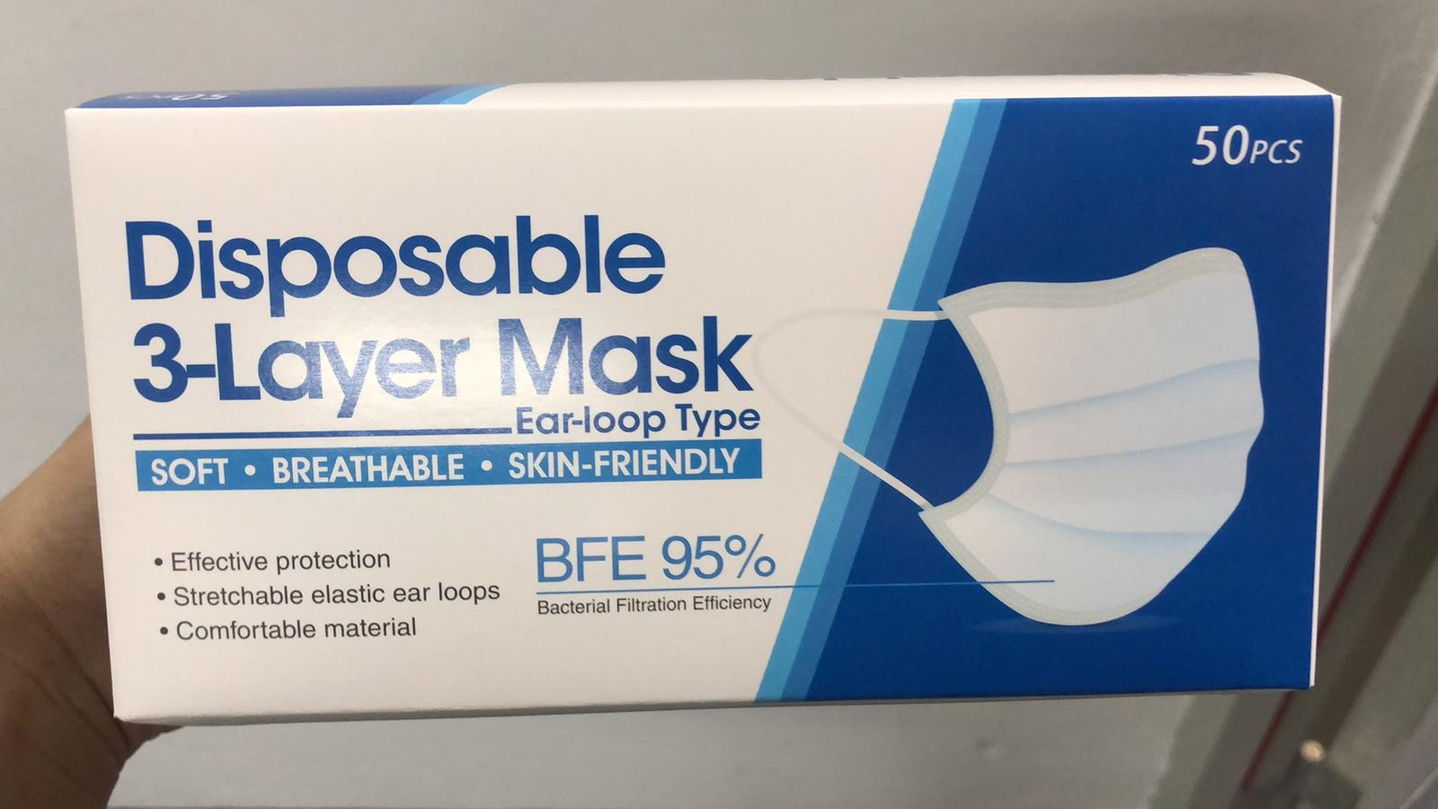 36255 - Disposable 3ply masks USA
