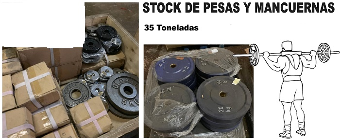 37660 - Stock of weights and dumbbells Europe