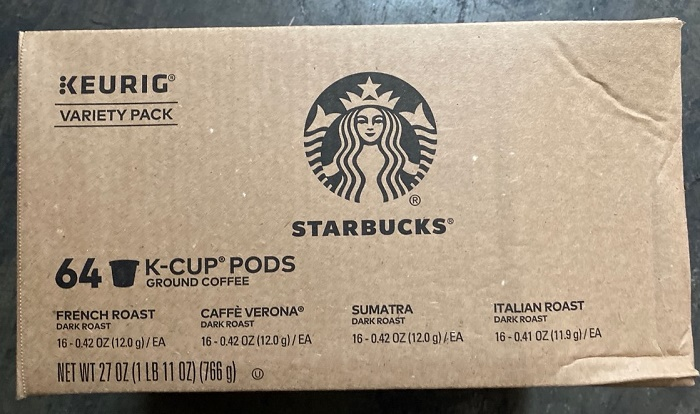 38133 - STARBUCKS KEURIG VARIETY PACK64 K-CUP PODS – GROUND COFFEE USA