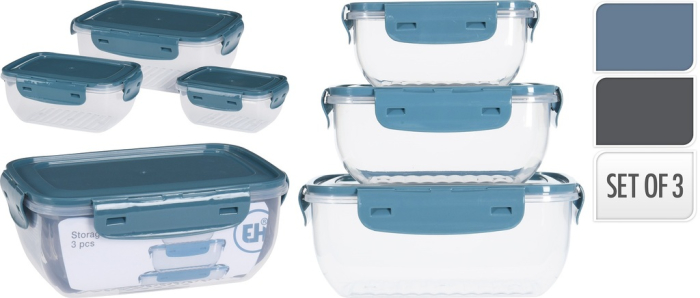 40039 - Excellent Houseware storage bowls set of 3 (assorted) Europe