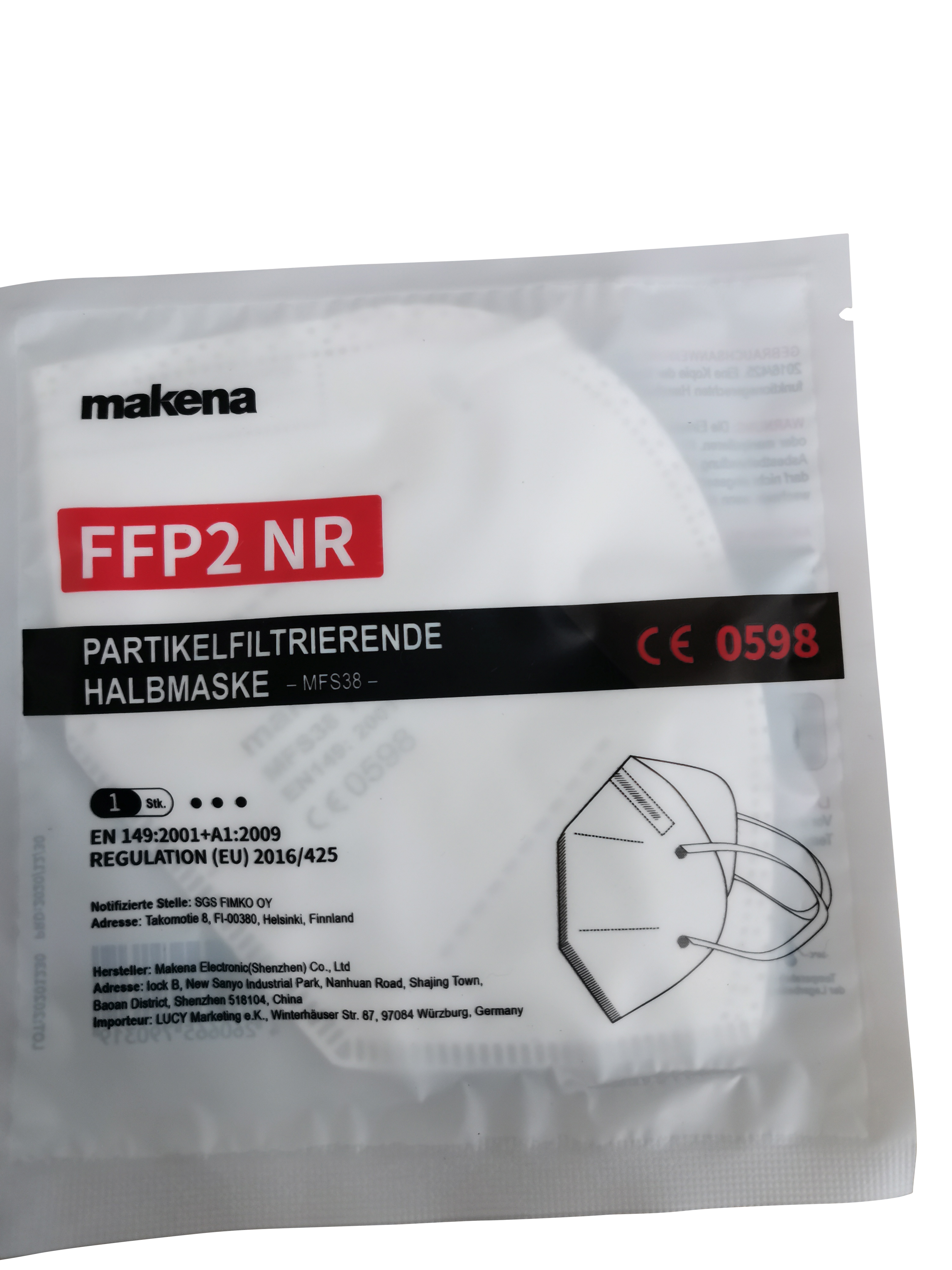 40049 - Certified FFP2 protective masks CE 0598 available immediately Europe