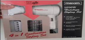 40566 - Hair dryer and curling Europe