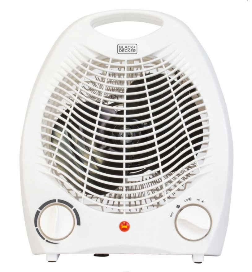 41011 - BLACK+DECKER Personal Desktop 1500W Fan Heater, Indoor, White USA
