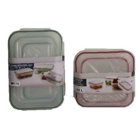 41259 - Fresh-keeping boxes, set of 3, 2-ass. Europe